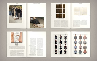 "Spreads from ""A Magazine About: Fashion and Identity"""