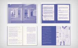Four spreads, including image pages, speakers' contributions, and a bibliography