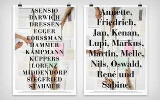 Variations with the event's speakers (serigraphy on offset)