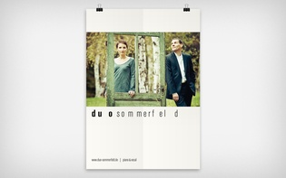 A2-poster for band Duo Sommerfeld