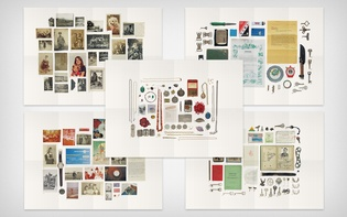 … and five posters with the five drawers' contents
