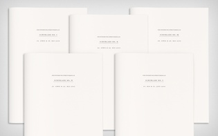All five text booklets' covers