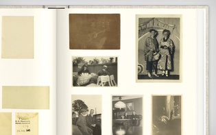 "Detail of a spread dedicated to ""recurring persons"""