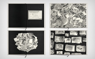Four B/W spreads, introducing the photographic material and process