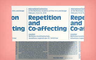 "Programme leaflet for the international conference ""Repetition and Co-affecting"""