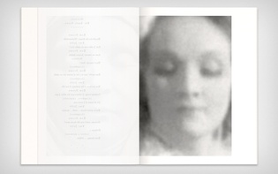 … and Marlene Dietrichs's face, both encompassing a transcription of the scene's dialogue